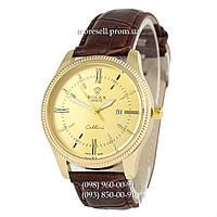 Часы Rolex Cellini Quartz Brown/Gold/Gold