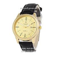 Часы Rolex Cellini Quartz Black/Gold/Gold