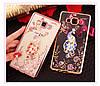 """SAMSUNG A7 A700 Оригинальный чехол бампер наккладка противоударный со стразами на телефон """"GPM"""", фото 6"""