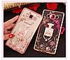 """SAMSUNG A7 A700 Оригинальный чехол бампер наккладка противоударный со стразами на телефон """"GPM"""", фото 8"""