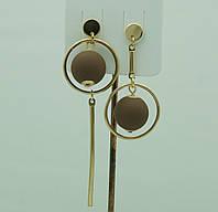 Модные украшения- модные серьги. Асимметричные коричневые серьги шарики 3040