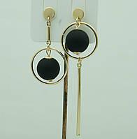 Необычные украшения- модные серьги. Асимметричные круглые серьги с шариками 3041