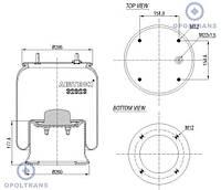 3229002501 Пневморессора со стаканом /сталь/ SAF2923