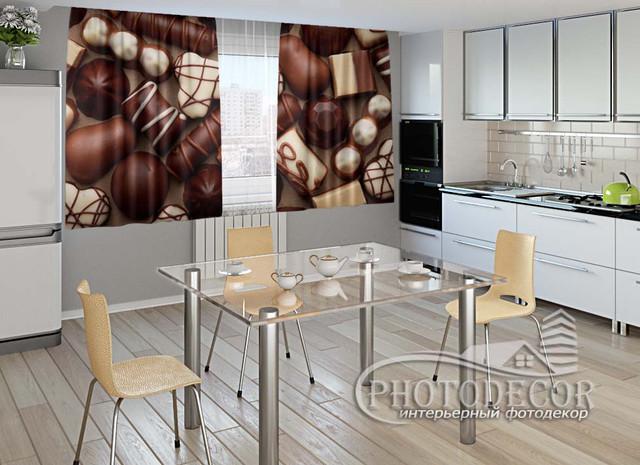 ФотоШтора для кухни 1,5м*2,5м (карниз 2,5м)