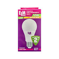 Лампа светодиодная ELM LED B60 12W PA10 E27 3000K