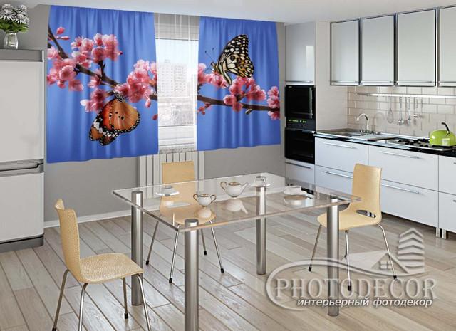 ФотоШтора для кухні 1,5 м*2,5 м (карниз 2,5 м)