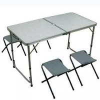 Набор раскладной Стол со стульями Folding 4+1 чемодан , фото 1