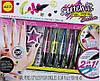 Набор для яркого дизайна ногтей 2в1 Лаки-ручки с наклейками и трафаретами  ALEX Sketch Оригинал из США