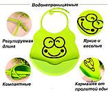 Слюнявчики из мягкого силикона с кармашком для детей, фото 2