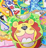 Слюнявчики из мягкого силикона с кармашком для детей, фото 4