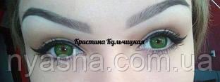 Цветные линзы Green для темно карих глаз