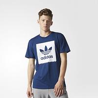 Футболка мужская синяя adidas адидас