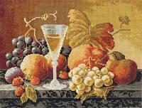 """Набор для вышивки крестом """"Panna"""" Натюрморт с вином и фруктами Н-1234"""