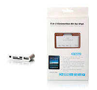 USB кабель - OTG iPad DR-05-IPA 5in1 (AV/microSD/SD/Sync/USB)