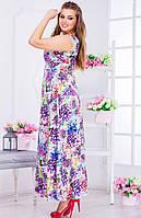 Нежное сатиновое платье