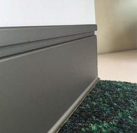 Cкрытый плинтус алюминиевый 12х84 мм
