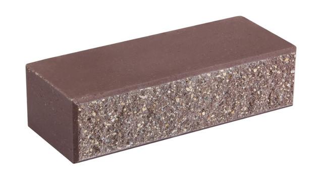 Облицовочный кирпич LAND BRICK колотый коричневый 250х100х65 мм