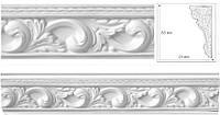 Потолочный плинтус молдинг с орнаментом из гипса