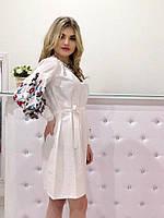 Женское платье рубаха с вышивкой