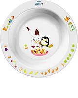 Avent Детская тарелка большая 12 мес+ Белый