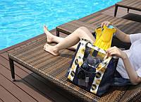 Летняя сумочка для пляжа прорезиненная. Синий цвет