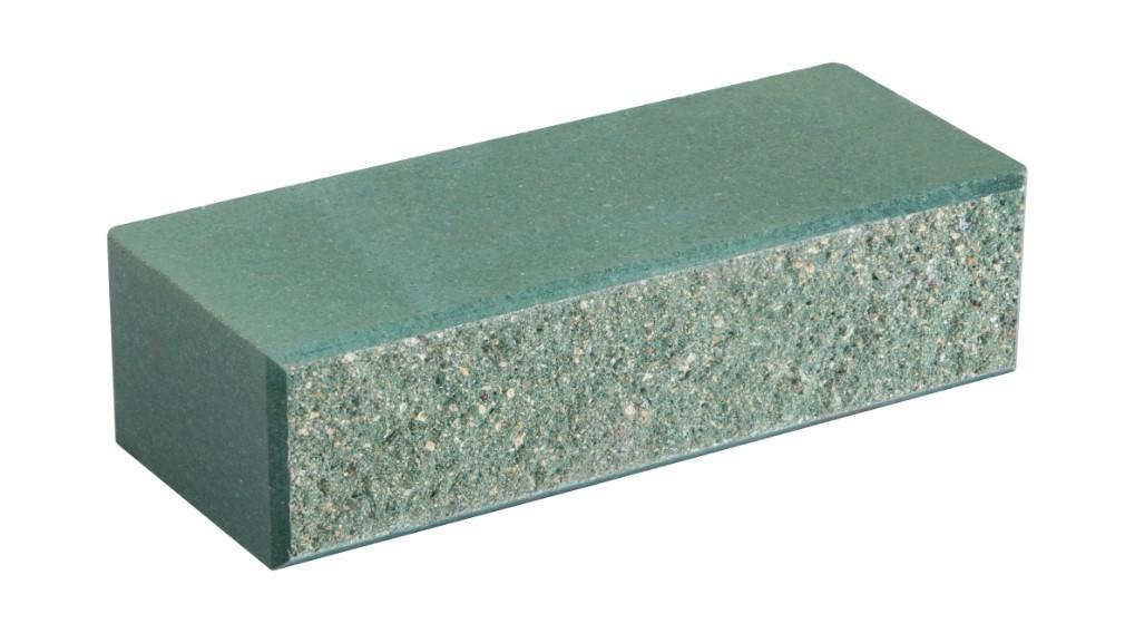 Облицовочный кирпич LAND BRICK колотый зеленый 250х100х65 мм