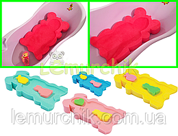 Матрасик для купания в детскую ванночку (с двумя мочалками)