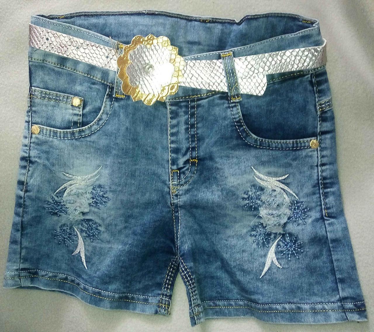 Детские джинсовые шорты для девочек 1-4 года