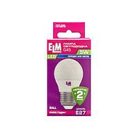 Лампа светодиодная ELM шар G45 5W E27 4000K