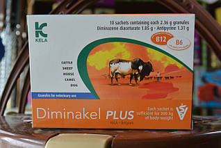 Диминакел ПЛЮС, гранулят 2,36 г KELA (Бельгия) препарат для лечения гемоспоридиозов животных.