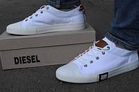 Білі чоловічі кеди Diesel