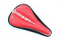 Фирменный Чехол GIANT с гелем на седло до 260*170 красный