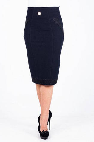 Классическая модная женская юбка с кружевными вставками, фото 2