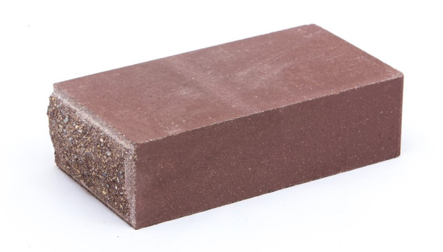 Облицовочный кирпич LAND BRICK колотый тычок коричневый 230х120х65 мм