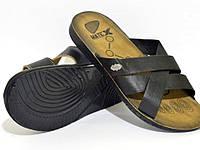 Мужские черные шлепанцы баталы р (44-47), фото 1