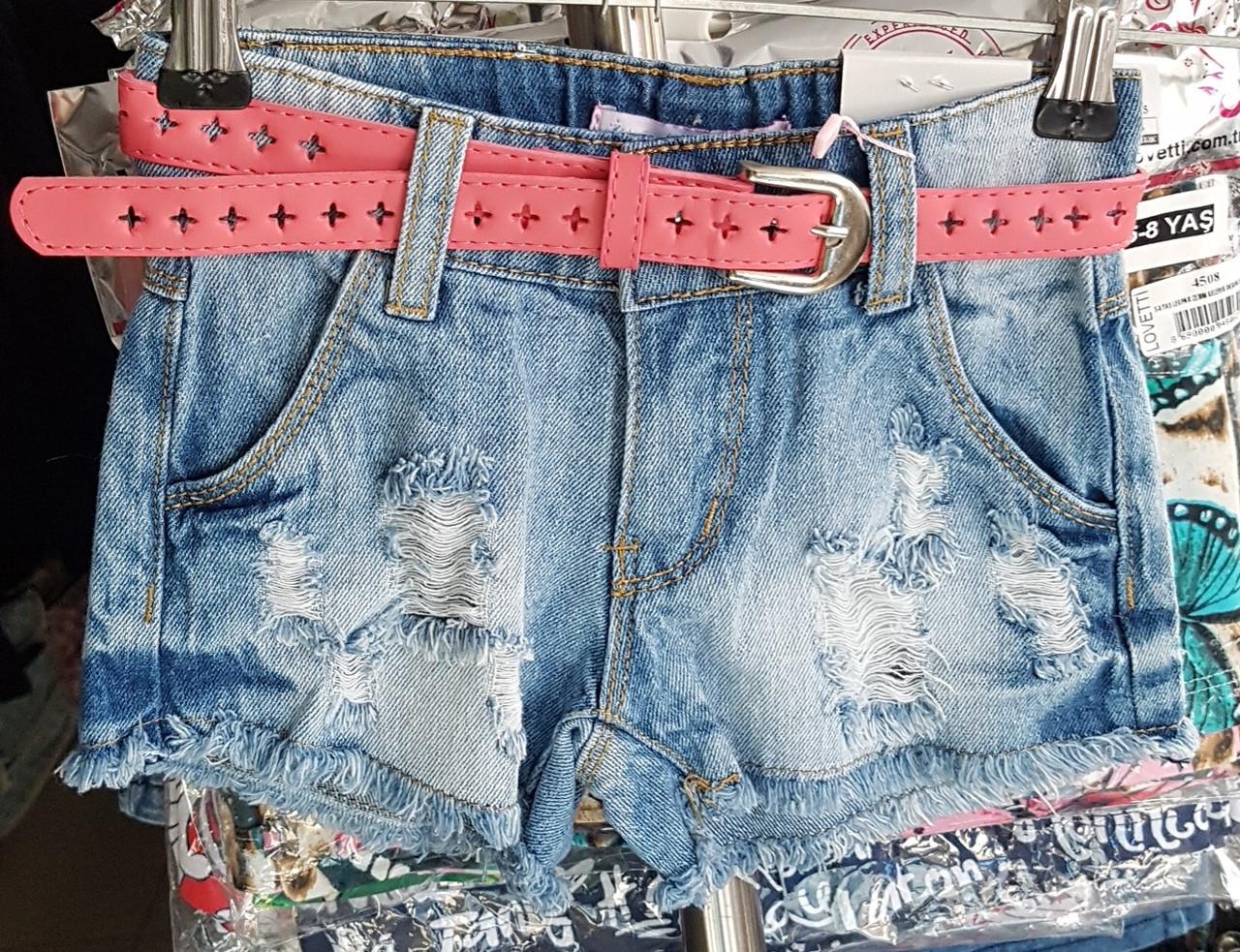 Джинсовые рваные шорты  для девочек