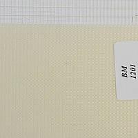 Рулонные шторы День Ночь Ткань Радуга ВМ-1201 Слоновая кость