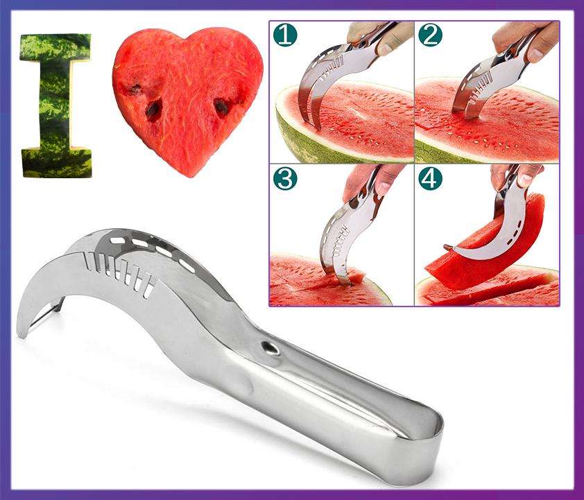 Нож для нарезки арбуза и дыни дольками Watermelon Slicer