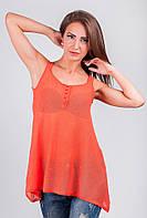 Майка свободная женская из тонкого трикотажа AG-3369 (Оранжевый)
