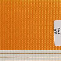 Рулонные шторы День Ночь Ткань Радуга ВМ-1207 Оранжевый