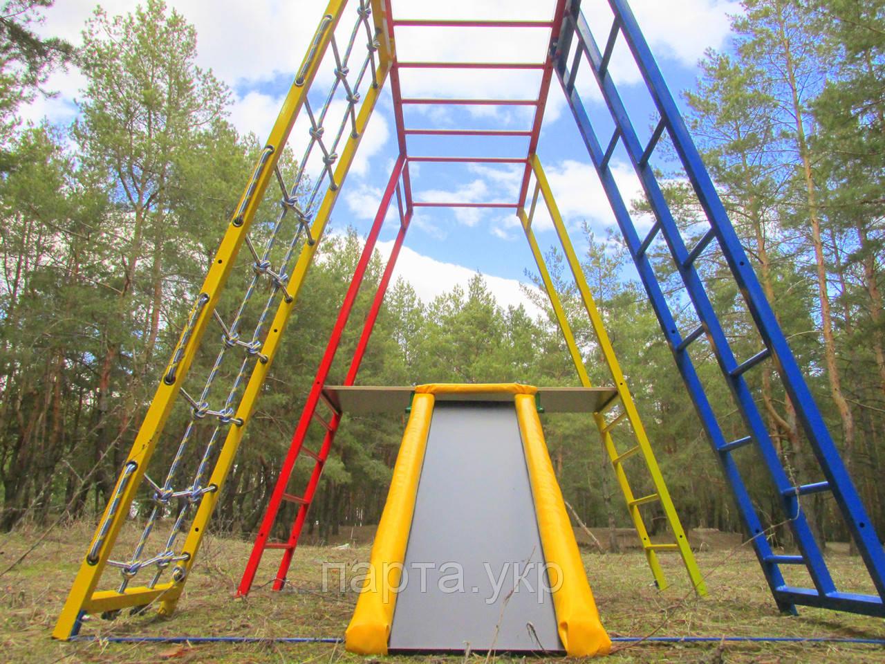 Дитячий ігровий комплекс для дачі Чемпіон з майданчиком