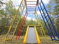 Детский игровой комплекс для дачи Чемпион с площадкой