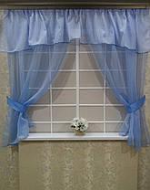 """Кухонные шторы """"Вива голубая"""", фото 2"""