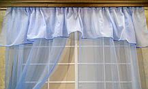 """Кухонные шторы """"Вива голубая"""", фото 3"""