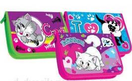 Пенал шкільний 1 відділення 1 створка Кошечки My cute cat 3віда 12шт/уп