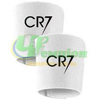 Держатели  фиксаторы (Тейпы) для щитков белые CR7 Роналдо
