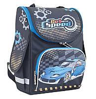 "Рюкзак каркасный ""Blue car"", 34*26*14 см, Smart PG-11, 553424"