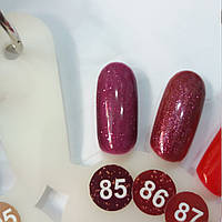 Гель-лак Nice for you №85 ягодное желе, с блестками 8,5 мл