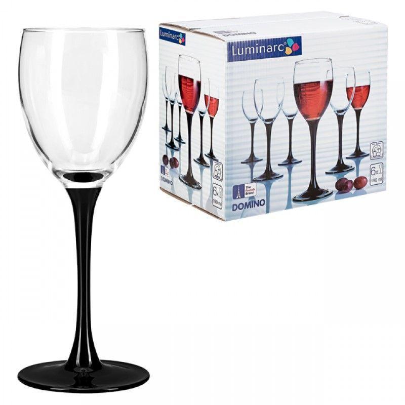 Набор бокалов для вина Luminarc Domino 190мл 6шт