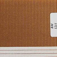 Рулонные шторы День Ночь Ткань Радуга ВМ-1211 Коричневый
